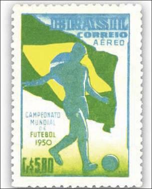 Sello brasileño del Mundial de 1950