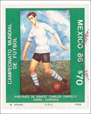Sello mexicano del Mundial de 1986