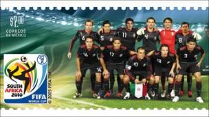 Sello mexicano del Mundial Sudáfrica 2010