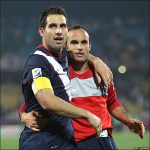 Carlos Bocanegra and Landon Donovan