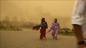 Пылевой шторм в Пакистане