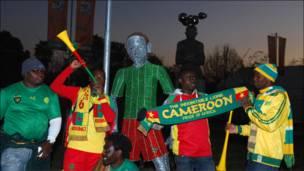 Mashabiki wa timu ya Cameroon