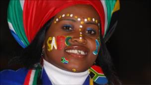 Mshabiki wa Bafana Bafana ya Afrika Kusini