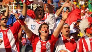 Aficionados paraguayos celebran
