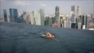 Piscina infinaita en Singapur