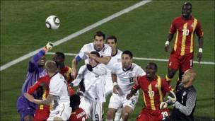 Partido de Ghana y Estados Unidos en el Mundial de Fútbol de Sudáfrica 2010