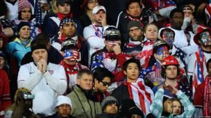 Fans de la selección de Estados Unidos, tras la derrota.