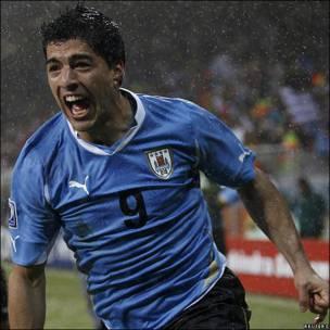 Luis Suárez, jugador de la selección de Uruguay.