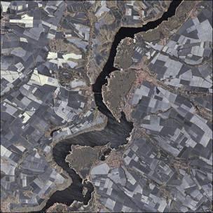 Imagen de la tierra captada por el satélite TanDEM-X.