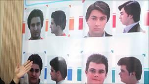 Lista oficial de cortes de cabello en Irán
