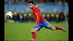 Pedro fue la sorpresa en el once titular de España