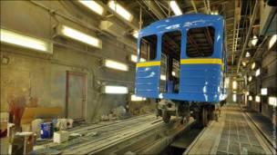 Вагон метро на заводе