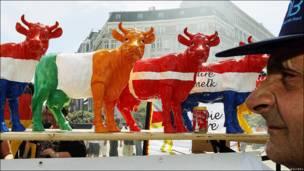 Granjero protesta en Bruselas