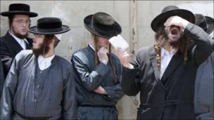 Protesta de judíos ultraortodoxos