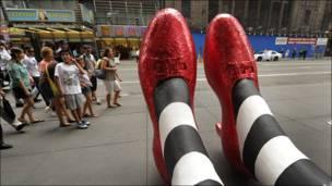 Figura frente al Madame Tussauds de Nueva York