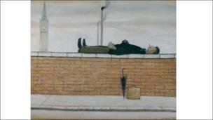 Man Lying on a Wall