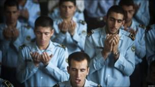 Miembros de la Fuerza Aérea de Irán