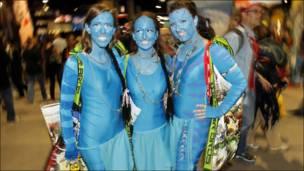 Fans disfrazadas de Avatar