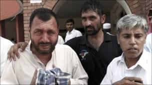 دھماکے میں ہلاک ہونے والے ایک شخص کے رشتہ دار