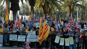 Vietnamese American demonstrators from san jose and san diego