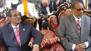 Madaxweynihii hore ee Somaliland Daahir Rayaale Kaahin iyo madaxweyne Axmed Maxamed Maxamud Siilaanyo