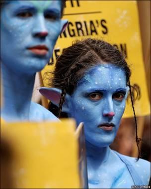 Protesta a lo Avatar