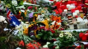 Ofrenda floral en Duisburg, Alemania