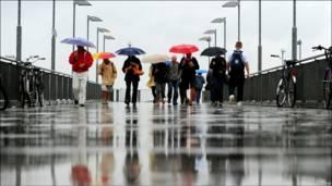 बर्लिन में बारिश
