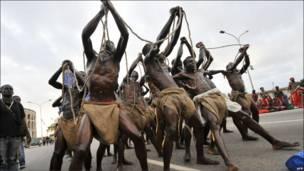 दास-प्रथा को दिखाता एक नृत्य