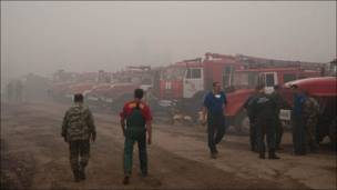 Foto de Ottenki Serogo sobre los incendios forestales en Rusia