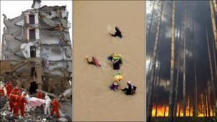 Incendio en Moscú, inundaciones en Pakistán y deslaves en China