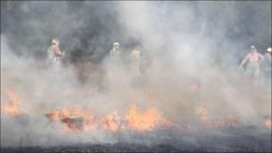 Inendios tras ola de calor en Moscú