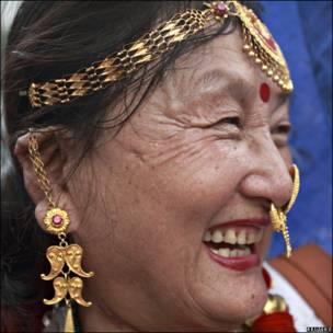 Una mujer Sherpa