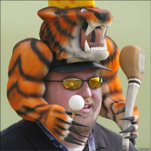 Aficionado de Tiger Woods