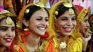Bailarinas en India
