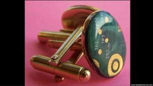 Gemelos vintage de cobre y zinc, de Betsy Berberian
