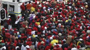 Protesta en Sudáfrica
