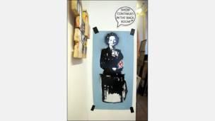 Margaret Thatcher (obra de Buenos Aires Stencil)