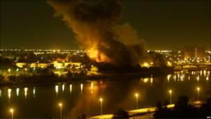 غارات جوية على بغداد