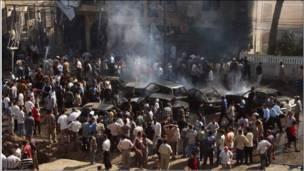 Ataque a bomba em Bagdá, em 2004