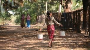 В камбоджийской деревне