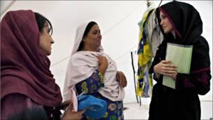 Angelina Jolie en Pakistán