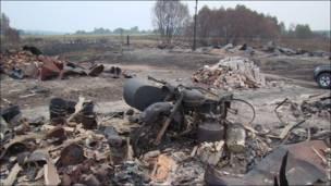 Сгоревшая деревня Кавлей Ардатовского района Нижегородской области