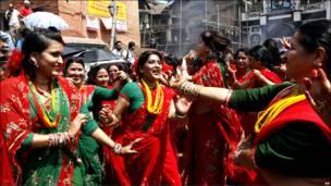 زنان هندو در کاتماندو