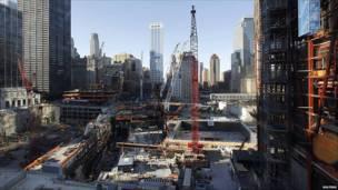 Obras en la zona cero de Nueva York