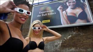 Publicidad en 3D de Wonderbra
