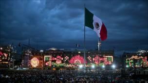 La plaza del Zócalo en Ciudad de México