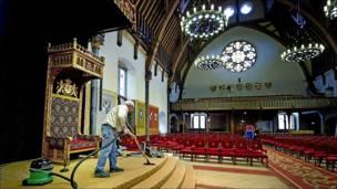 Preparativos para la apertura del Parlamento holandés