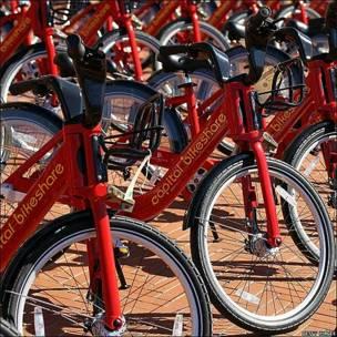Lanzamiento de un programa para el uso de bicicletas en Washington, EE.UU.