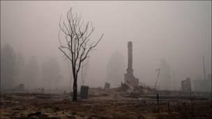 Поселок Ласковский в Рязанской области, сгоревший во время августовских пожаров. Фотография ottenko_serogo из сообщества live_report